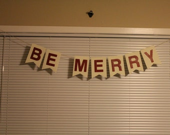 Be Merry Photo Prop Banner