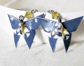 Origami Earrings - Paper Earrings - Butterfly Earrings - Origami Jewelry - Paper Jewelry - gift for her - WC01