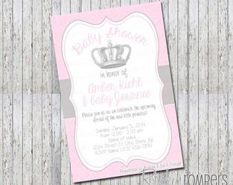 Princess Baby Shower Invite 4X6
