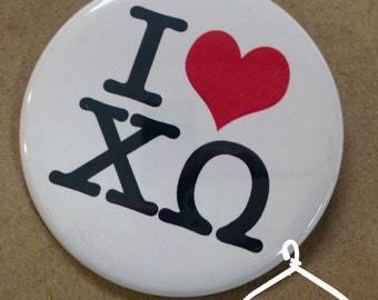 Chi Omega New York Button or Magnet