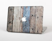 The Multicolored Tinted Wooden Planks Skin for the Apple MacBook Air- Pro or Pro with Retina Display (Choose Version)