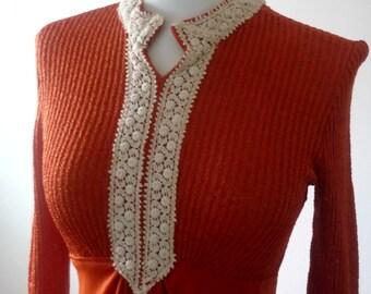 Dress Vintage Orange Retro