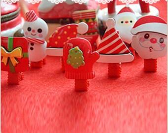 Baby Christmas Hair Clip, Baby Santa Hair Clip, Holiday Hair Clip,Kids Christmas Hair Clip, Snowman hair clip, Santa hair clip