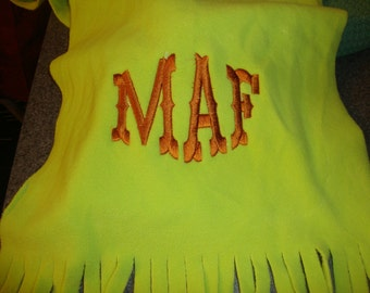 Monogram Fleece Scarves
