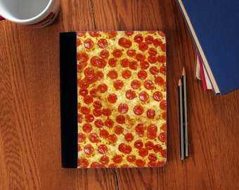 Pepperoni Pizza  Faux Suede Notebook in 3 Sizes!