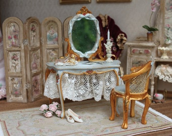 Vanity table  with chair.  Scale 1 12