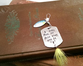 Personalized Hand Stamped Fishing Lure-Fathers Boyfriend Grandfather Dads Gifts-Mens Gift-Fishing Tackle