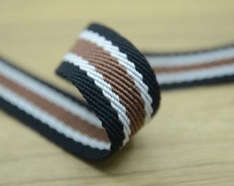 1 3/8 inch 30mm Heavy Duty Cotton Webbing, Striped Cotton webbing 02