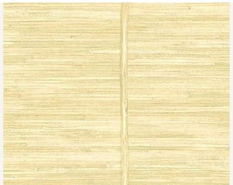 Wallpaper remnant 20 5 w x 33 faux blond bamboo slat for Wallpaper remnants