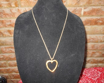 Vintage Avon Heart Pendant on a 24 inch chain