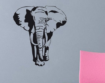 "Elephant wall decal 22""x25"""