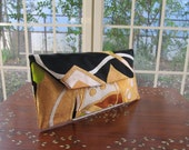 "Kimono Clutch Bag ""Golden Butterfly""  (Japanese Silk Kimono Obi;  Kimono Purse; Japanese Purse; Clutch Bag; Clutch Purse)"