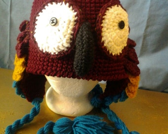Bird hat with scaled wings