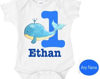 whale 1st birthday | whale first birthday outfit - your childs name for their 1st birthday