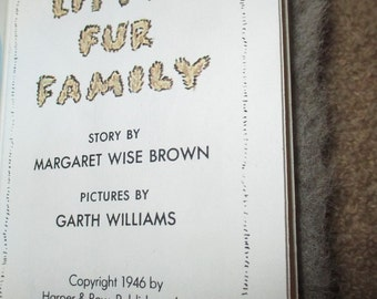 Vintage Little Fur Family by Margaret Wise Brown