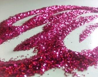 glitter - fuchsia fine polyester