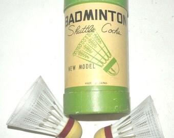 Original Vintage 60's Badminton Shuttlecocks - Made in Japan - In Original Packaging!