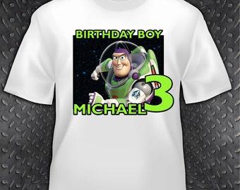 Toy Story Buzz Lightyear Birthday T Shirt - Personalized Custom -  Woody, Buzz Lightyear, Jessie
