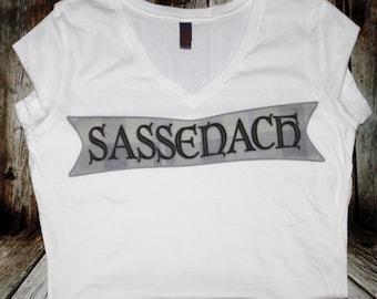 Outlander Sassenach Womans V-neck T-shirt