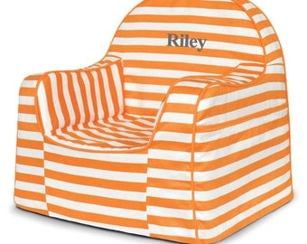 P'kolino Personalized Stripes Little Reader Chair (add name to be personalized in Notes)