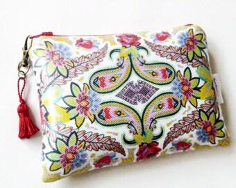 Floral Paisley wallet/purse/bag/clutch