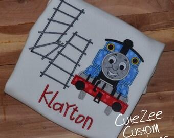 Thomas the Train Birthday Onesie/Shirt (Short Sleeve)