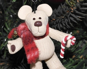 Christmas Teddy Bear Decoration / Tree Ornament