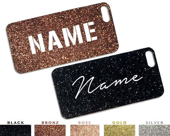 Personalized Name Glitter iPhone Paper Cutout Inserts / Sparkle iPhone 5 Case Insert / Inserts for iPhone 5s, iPhone 6, iPhone 6 Plus
