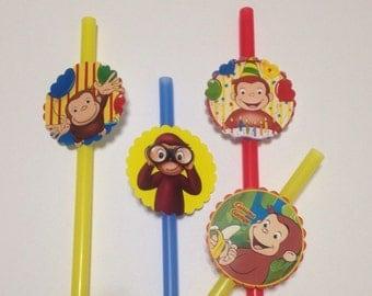 Curious George  Birthday Party Straws