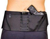 The Sport Belt Concealed Carry Gun Holster for Ladies and Guys; Black with Stealth