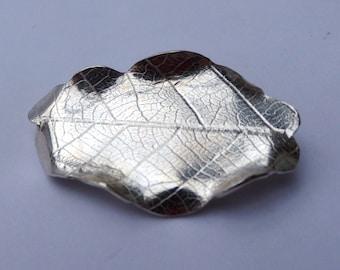Brooch -Sterling silver oak leaf brooch