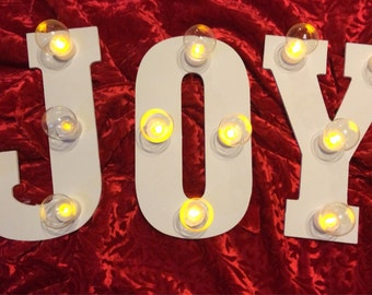 Joy light up letters for Lighted letters joy