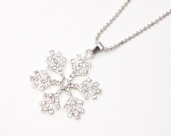 Snow flake necklace - Silver