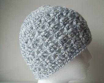 Crochet Hat Cap Beanie -Denim Blue - Very Soft