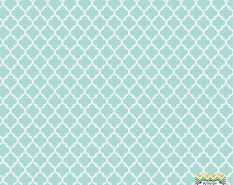 Mint quatrefoil craft  vinyl sheet - HTV or Adhesive Vinyl -  quarterfoil pattern   HTV1427