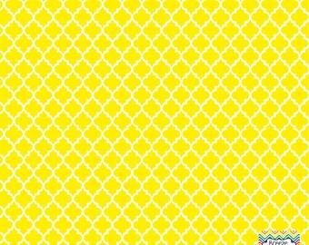 Yellow quatrefoil craft  vinyl sheet - HTV or Adhesive Vinyl -  quarterfoil pattern HTV1442