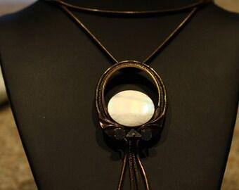 Stunning Ermani Bulatti Vintage Art Nouveau Matinee Length Necklace