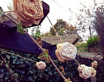 Large Rose Paper Garland Rustic Wedding Decorations Bunting