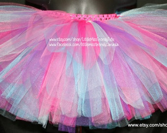 Colorful Tutu Set with Matching Headband, Pink Purple Blue Tutu Set with Matching headband, Tutu Set