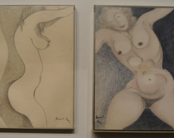 Sale 2 Original erotic nude pencil drawings - Signed James DeMartini Listed Artist