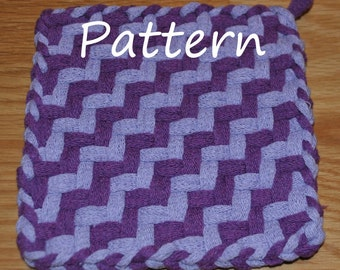 Pattern Instructions for Staircase Potholders