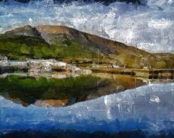 Talknafjordur Harbour, Iceland - canvas print