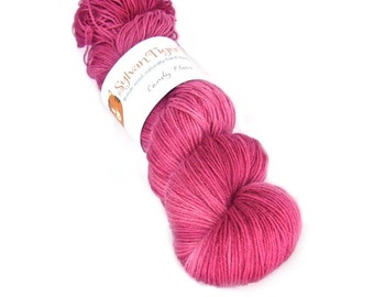 Hand dyed yarn BFL 4ply 'Candy Floss'