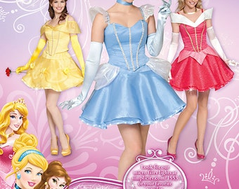 Simplicity 1553 Misses' Disney Princess Costumes for Misses' sizes  6 - 12 - uncut -