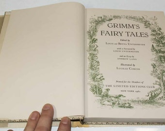 Grimm's Fairy Tales, 4 Vol. Limited Editions Club, 1962