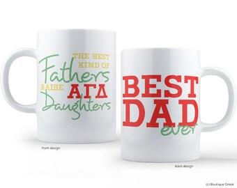 AGD Alpha Gamma Delta Best Dad Mug Sorority Father Mug