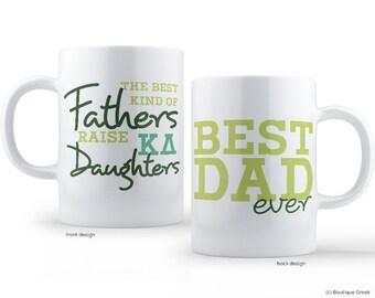 KD Kappa Delta Best Dad Mug Sorority Father Mug
