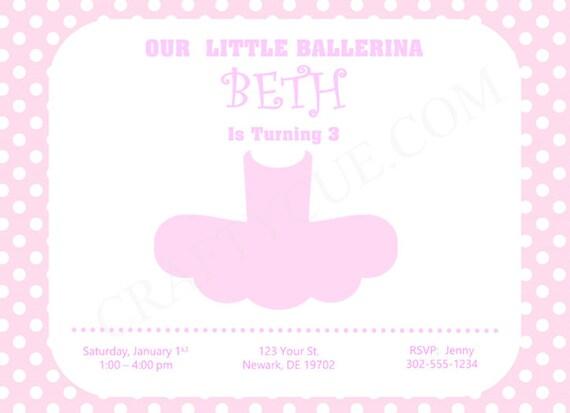 ballerina tutu baby shower invitation tutu cute baby shower invite ballet shower invitation