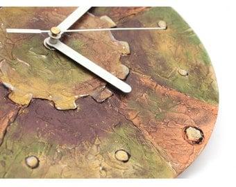 STEAMPUNK Home Decor, Steampunk WALL CLOCK, Unique Clock, office wall clock, industrial home decor, copper bronze clock