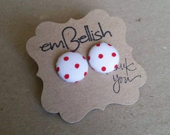 Fabric Button Studs *free shipping*